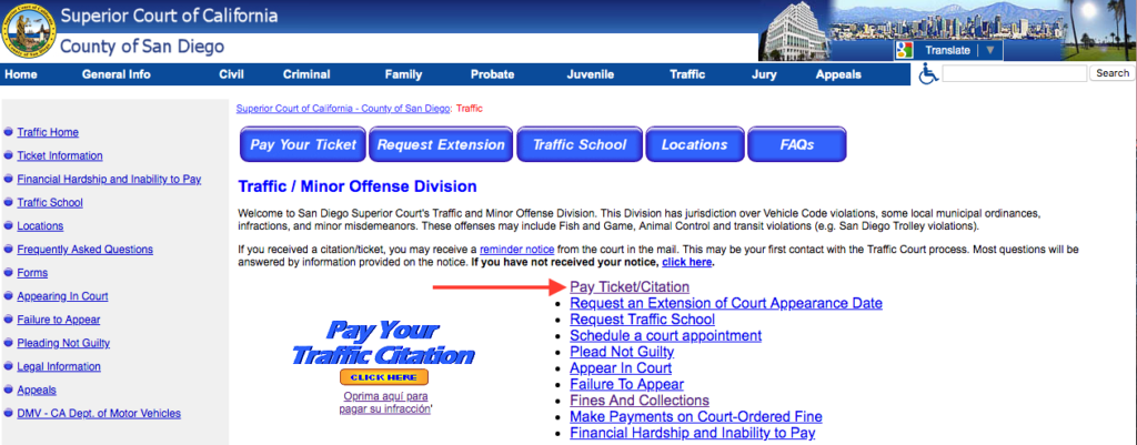How to Use California Traffic Ticket Lookup - Getdismissed | CA