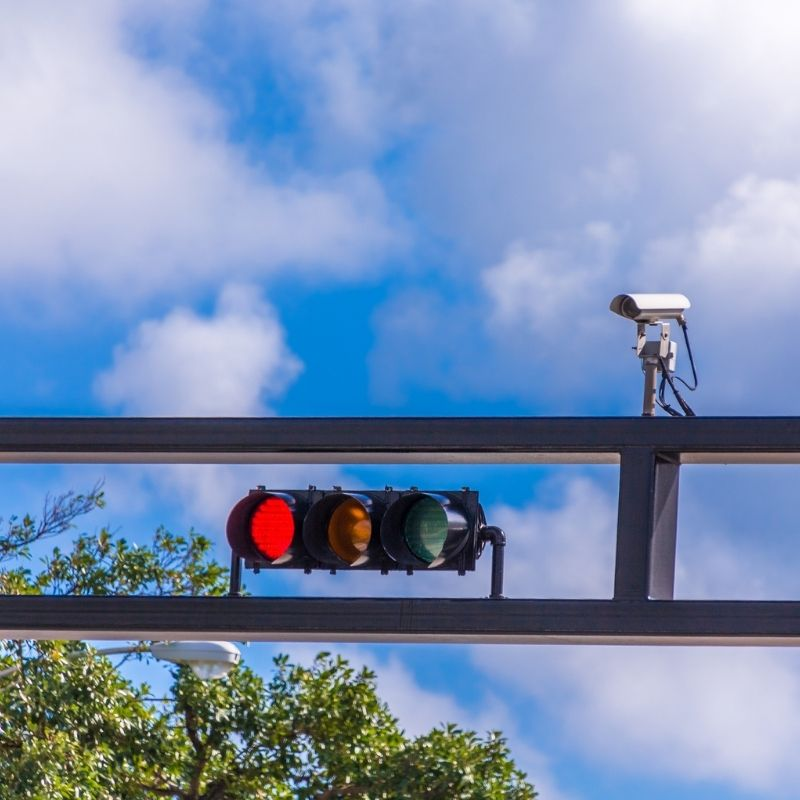 does a red light camera ticket go on your record